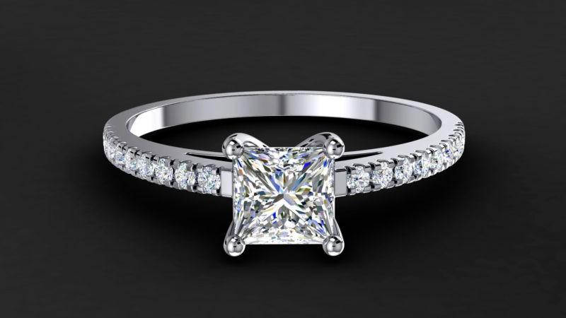 Выбор бриллианта с огранкой «принцесса»
